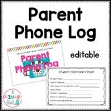 Editable Parent Phone Log