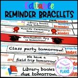 Editable Parent Reminder Note Bracelets