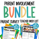 Beginning of the Year Parent Survey and Supply List BUNDLE