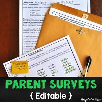 Parent Surveys (Editable)