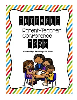 Editable Parent-Teacher Conference Form