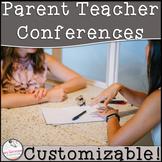 Parent Teacher Conference Forms Editable Packet