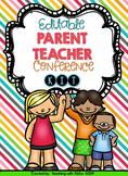 Editable Parent Teacher Conference Kit