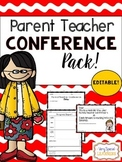 {Editable} Parent Teacher Conference Pack!