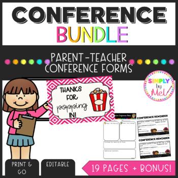 Editable Parent-Teacher Conference Reminders