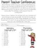Parent Teacher Conferences Forms- All editable-Sign Up Sheet & documents