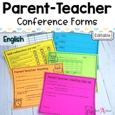Editable Parent Teacher conference forms