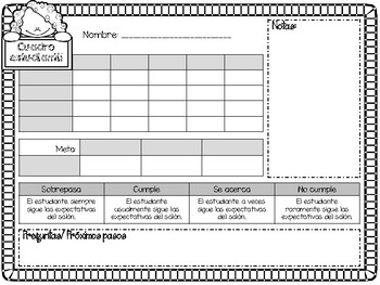 Editable Parent Teacher conference forms **in Spanish**
