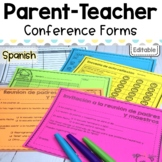 Editable Parent Teacher conference forms   in Spanish