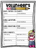 Editable Parent Volunteer Forms