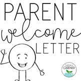 Editable Back to School Parent Welcome Letter