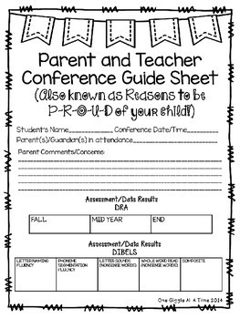 Editable Parent and Teacher Conference Pack