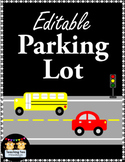 Editable Parking Lot Activity for Literacy, Math, or Multi Purpose