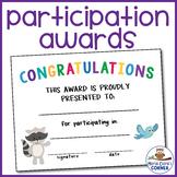 Editable Participation Awards