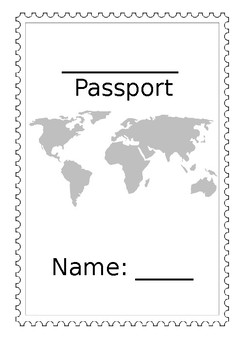 Editable Passport Template by Emily S | Teachers Pay Teachers