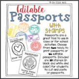 Editable Passports with Stamps
