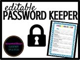 Editable Password Keeper