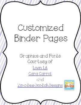 Editable Pastel Binder Pages