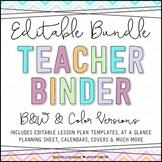 Chevron Teacher Binder {Editable Bundle}