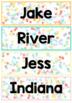 Editable Pastel Confetti Name Tub/Locker Labels