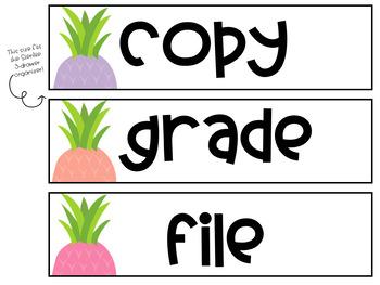 Editable Pastel Pineapple Labels