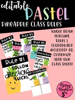 Editable Pastel Pineapple Rules