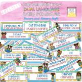 Editable Pastel Rainbow Dual Language (Gomez and Gomez) Daily Schedule