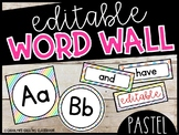 Editable Pastel Word Wall Headers and Word Cards - Pastel Classroom theme