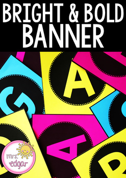 Editable Patterned Banner | Bright and Bold: