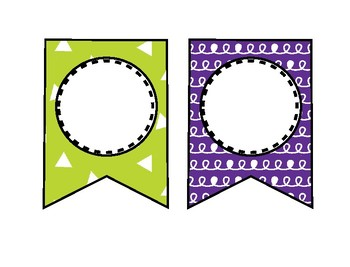 Editable Patterned Banner Bunting