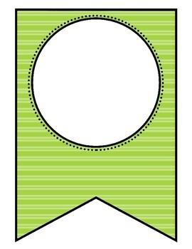 Editable Patterned Banner   White