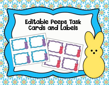 Editable Peeps Task Card Frames and Labels