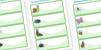 Editable Peg Drawer Labels (Minibeasts)