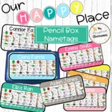 Editable Pencil Box Nametags   Our Happy Place Classroom D