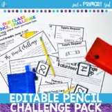 Editable Pencil Challenge Pack