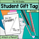Editable Pencil Gift Tag