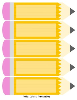 Editable Pencil Labels By Polka Dots And Punctuation Tpt