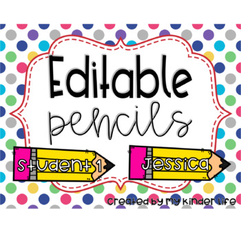 Editable Pencil Labels/Name Tags