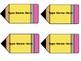 Editable Pencil Name Tags