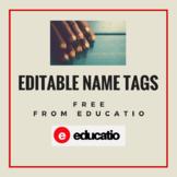 Editable Pencil Name Tags FREE