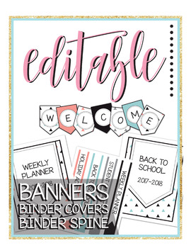 Editable Pennant Banner - Back to School - Fun - Geometric - Modern