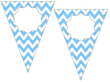 Editable Pennant Banner - Chevron {Two Different Sizes}