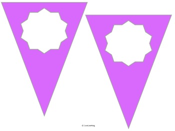 Editable Pennant Banner - Solid Colors {Two Different Sizes}