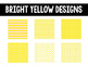Editable Pennant Banners: Bright Yellow Design