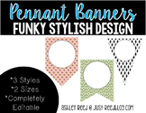 Editable Pennant Banners: Funky, Stylish Design