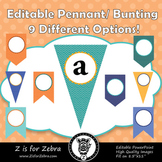 Editable Pennant / Bunting - 9 Different Chevrons Color Sets - 3 Designs