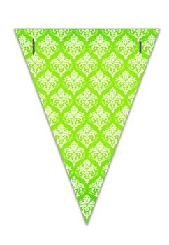 Editable Pennants - Damask