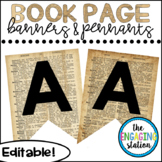 Editable Pennants and Banners - Book Page Design