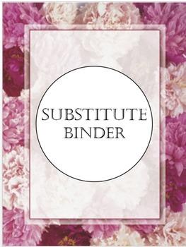 Editable Peony Substitute Binder