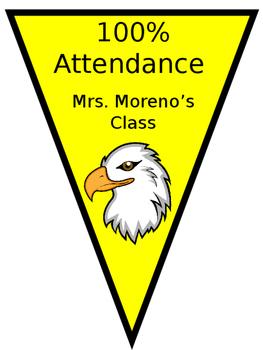Editable Perfect Attendance Banner